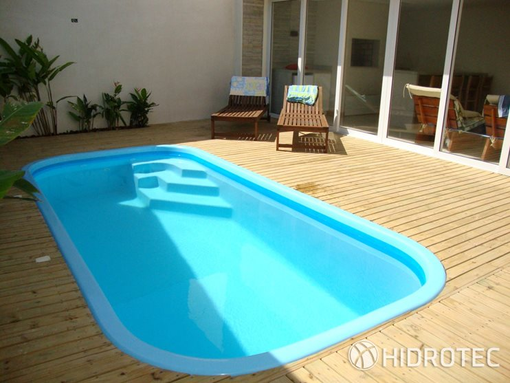 Piscina de fibra mega retangular piscinas de fibra for Fibra para piscina